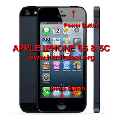 how to do hard reset on iphone how to easily master format iphone 5s and iphone 5c with 9426