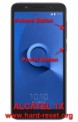 hard reset alcatel 1x android go