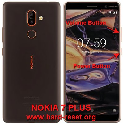 hard reset nokia 7 plus
