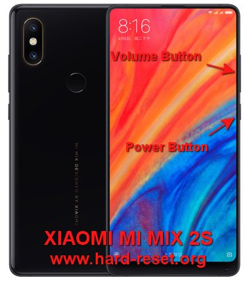 hard reset xiaomi mi mix 2s