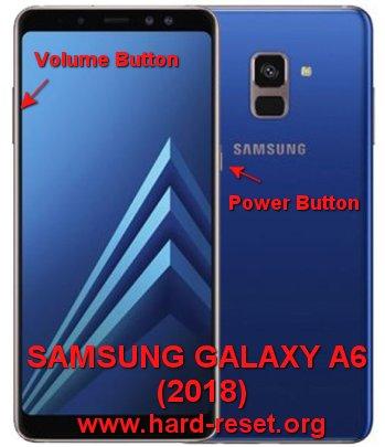 hard reset samsung galaxy a6 2018