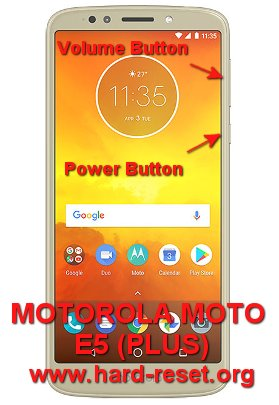 How to Easily Master Format MOTOROLA MOTO E5 (PLUS) with Safety Hard
