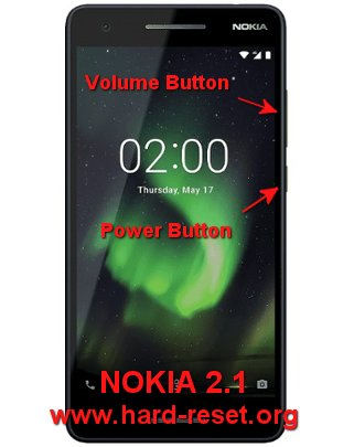 hard reset nokia 2.1 / android one