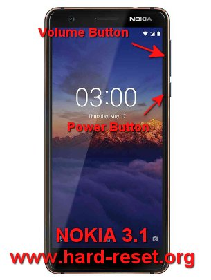 hard reset nokia 3.1 android one