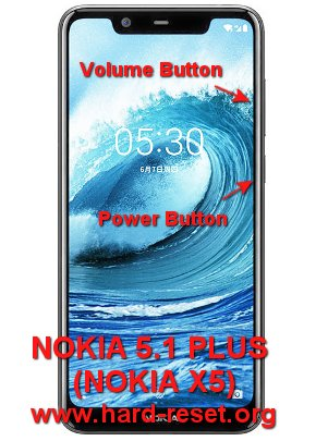 hard reset nokia 5.1 plus / nokia x5 (android one)