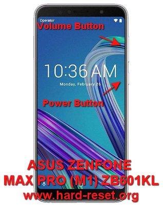 hard reset asus zenfone max pro m1 zb601kl