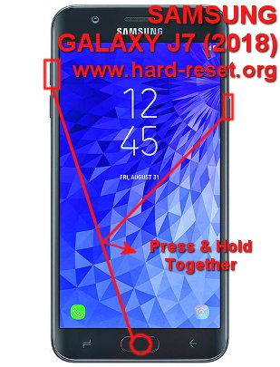 hard reset samsung galaxy j7 2018