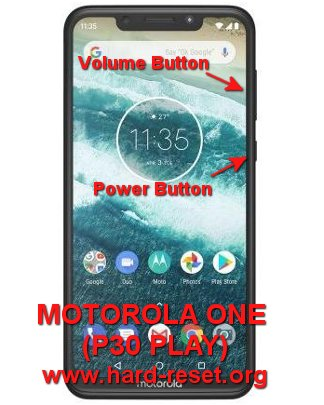hard reset motorola one / motorola p30 play
