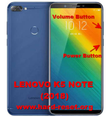 hard reset lenovo k5 note 2018