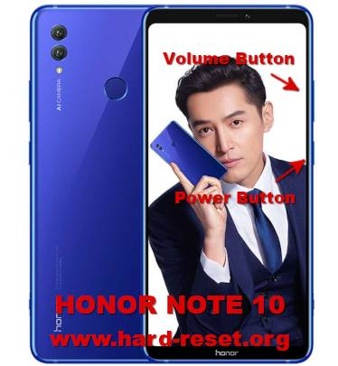 hard reset huawei honor note 10