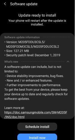 samsung galaxy m20 android 10 upgrade