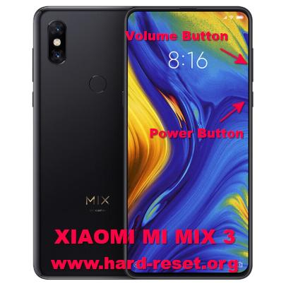 hard reset xiaomi mi mix 3