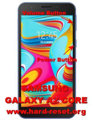 hard reset samsung galaxy a2 core SM-A260F SM-A260G