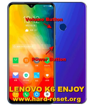 hard reset lenovo k6 enjoy 2019