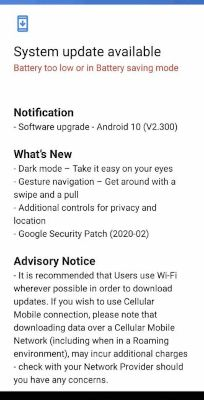 nokia 2.2 android 10 firmware upgrade