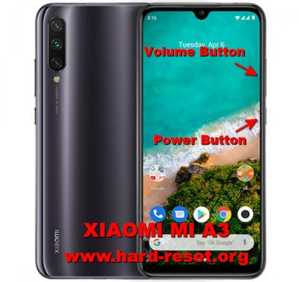 hard reset xiaomi mi a3 android one
