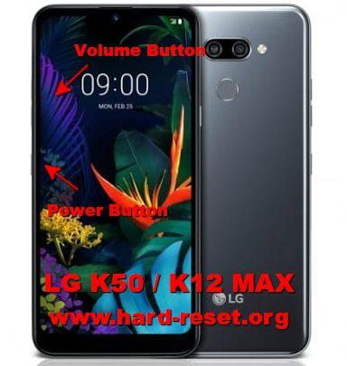 hard reset lg k50 / k12 max
