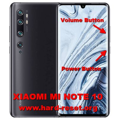hard reset xiaomi mi note 10