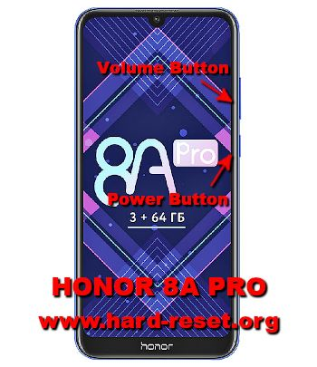 hard reset huawei honor 8a pro