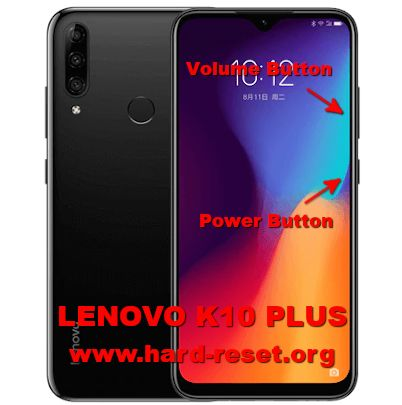 hard reset lenovo k10 plus