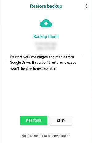 how to restore whatsapp backup data