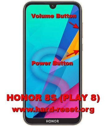 hard reset huawei honor 8s / honor play 8