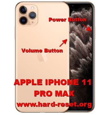 hard reset iphone 11 pro max