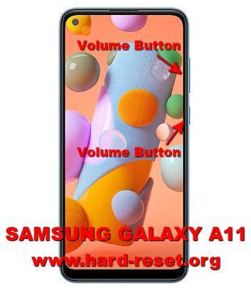 hard reset samsung galaxy a11