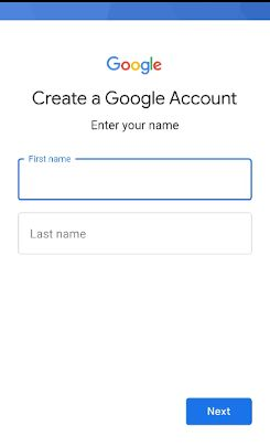 hardreset create google account