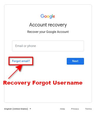 hardreset recovery forgot google account username or email