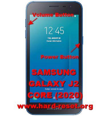 hard reset samsung galaxy j2 core 2020
