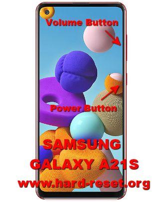 hard reset samsung galaxy a21s