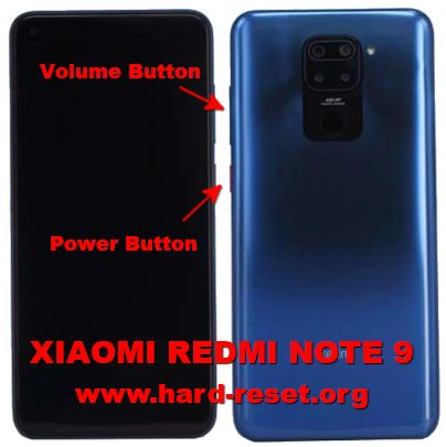 hard reset xiaomi redmi note 9