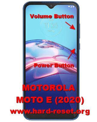 hard reset motorola moto e 2020