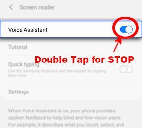 hard reset turnoff samsung talkback voice assistance