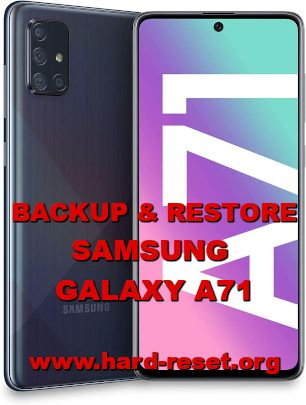 how to backup & restore data on samsung galaxy a71