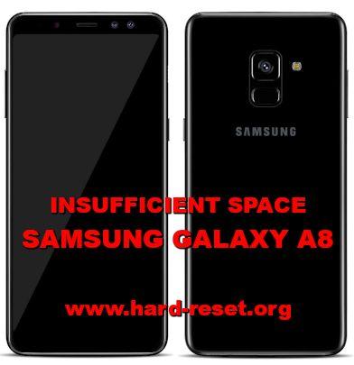 solution to fix insufficient storage on samsung galaxy a8
