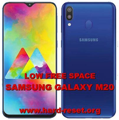 fix low insufficient memory storage on samsung galaxy m20