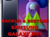 how to backup & restore data on samsung galaxy m51