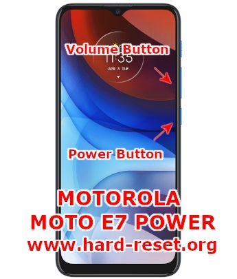 hard reset motorola moto e7 power