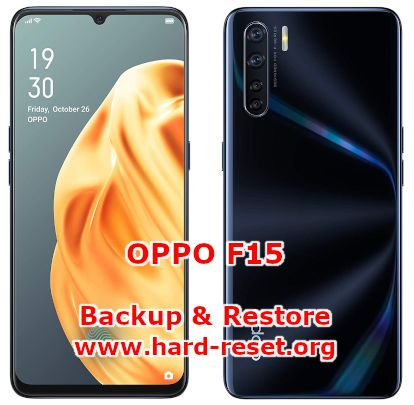 solution to backup & restore data on oppo f15