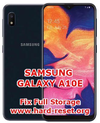fix insufficient storage issues on samsung galaxy a10e