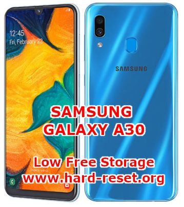 solution to fix low free storage insufficient on samsung galaxy a30