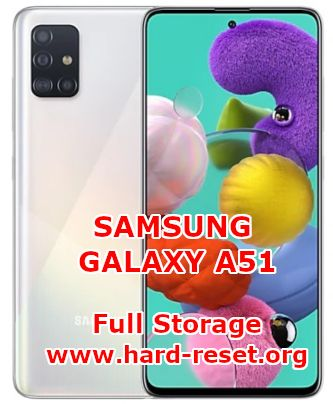 solutions to fix low free space on samsung galaxy a51