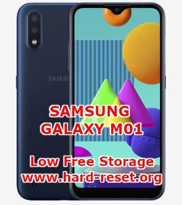 solution to fix low free storage on samsung galaxy m01