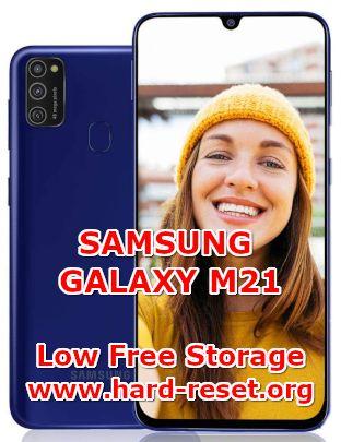 solution to fix low free storage on samsung galaxy m21
