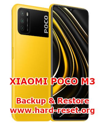 how to backup & restore data on xiaomi poco m3
