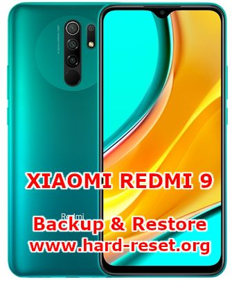 how to backup & restore data on xiaomi redmi 9