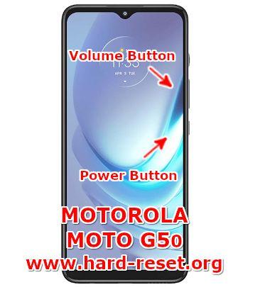 hard reset motorola moto g50
