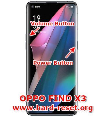 hard reset oppo find x3